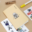 Doodling - DESIGN GOMGOM My You small blank notebook