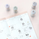 Usage example - ICONIC Meow self inking stamp