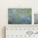 Size - NACOO Claude Monet 2 Nympheas label sticker set