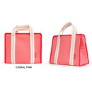 Coral Pink - Monopoly Air mesh insulated lunch tote bag