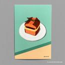 04 ANG BUTTER POUND CAKE - Design comma-B Sweet dessert illustration postcard