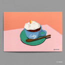 07 CREAMY - Design comma-B Sweet dessert illustration postcard