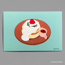 08 SOUFFLE PANCAKE - Design comma-B Sweet dessert illustration postcard
