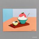 06 SHAVED ICE - Design comma-B Sweet dessert illustration postcard