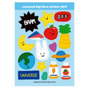 004 - Design comma-B Big deco paper sticker
