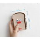 Size - ROMANE Toast zipper card holder pouch with key clip