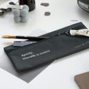 Charcoal - ICONIC Cottony flat zipper pencil case pouch