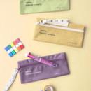 ICONIC Cottony flat zipper pencil case pouch