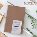 Mocha - Indigo 2021 Official soft dated monthly diary planner