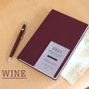 Wine - Indigo 2021 Official soft dated monthly diary planner