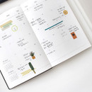 Opens flat - Indigo 2021 Official soft dated monthly diary planner