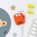 Red Orange - ROMANE Brunch Brother Ghost Airpods silicon cover