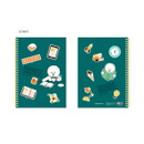 Somyi - Bookfriends Reading pet wire bound blank notebook