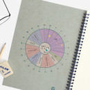 Time table - Bookfriends Reading pet wire bound blank notebook