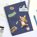 Witty - Bookfriends Reading pet wire bound blank notebook