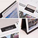 Detail of Ardium 2021 Europe travel monthly desk calendar