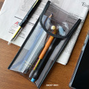 Smoky Gray - Play Obje Twinkle translucent PVC pencil case pouch