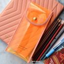 Neon Orange - Play Obje Twinkle translucent PVC pencil case pouch