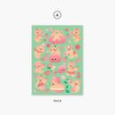 04 peach - Project fruit my juicy bear removable sticker