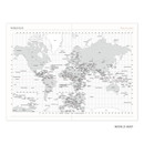 World map - Indigo 2021 Official small dated monthly planner scheduler