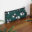 03. Panda - ICONIC Comely flat zipper pencil case