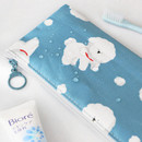 Water resistant - ICONIC Comely flat zipper pencil case
