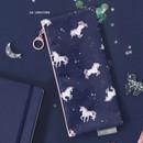 04. Unicorn - ICONIC Comely flat zipper pencil case