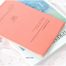 Coral pink - Iconic 2021 Simple large dated monthly planner