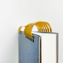 Wire binding - O-check Vintage sky blue twin ring blank notebook