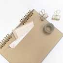 Paper envelope - O-check Vintage gray twin ring dots grid notebook
