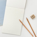 Grid papers - O-check Vintage yellow A5 grid notepad