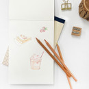 plain papers - O-check Vintage blue A5 blank notepad