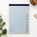 O-check Vintage blue A5 blank notepad