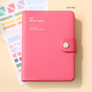Hot Pink - Monopoly 2021 Smiley dated daily diary with tray