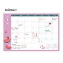 Monthly plan - Monopoly 2021 Smiley dated daily diary with tray