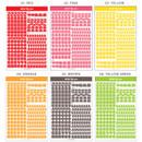 Color - Wanna This Basic Korean Alphabet sticker