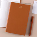 Carrot Orange - Dash And Dot 2021 Aesthetic small dated weekly diary planner