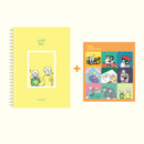 Comes with a sticker sheet - DESIGN GOMGOM 2021 Common days dated weekly diary planner