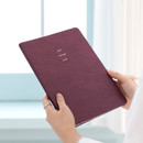 Red wine - 2021 Notable memory slim B5 dated weekly planner