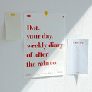 Comes with a poster - After The Rain 2021 Dot your day dated weekly diary planner