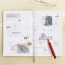 Monthly plan - ICONIC 2021 Brilliant dated daily diary planner