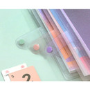 Snap closure - Twinkle transparent A5 6 ring binder cover