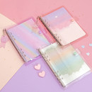 Twinkle transparent A5 6 ring binder cover