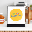 Vacation page - 2NUL 2021 Drawing monthly desk calendar