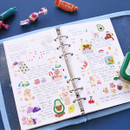 Weekly plan - Second Mansion Love Beat A6 6-ring dateless weekly diary planner