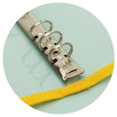 Sturdy ring - Second Mansion Zipper twinkle A6 size 6-ring binder cover