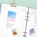 Lined note - Second Mansion Moment A5 6-ring undated weekly diary planner