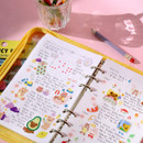 Weekly plan - Second Mansion Highteen A5 6-ring dateless weekly diary