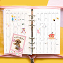 Yearly plan - Second Mansion Highteen A6 6-ring dateless weekly diary