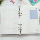 Monthly plan - DESIGN GOMGOM Leeli hardcover 6-ring dateless weekly diary